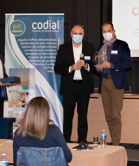 Trophée 2020 en tant que membre du Club Experts CODIAL.